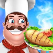 烹饪游戏疯狂厨房厨师食品的孩子