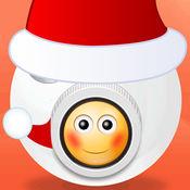 圣诞节快乐 Photo Booth - 与圣诞表情符号贴及分享装饰图片