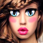 漫画 和 动画 卡通 眼睛 - 化妝品 化妆 照片编辑软件 手机