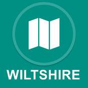 威尔特郡,英国 : 离线GPS导航