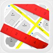 地图测量尺 - 在卫星地图上直接测量土地面积