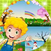 孩子们学习的季节,幼儿学习四季乐趣秋,冬,春,夏季活动
