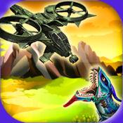 疯狂的直升机轰炸机攻击-飞行恐龙侏罗纪冒险的入侵