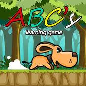 有趣的小狗ABC的学习运动员