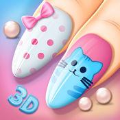 时尚美甲沙龙游戏3D: 创建真棒美容指甲和美甲设计 1