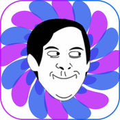 米姆比赛HD精简版 - 添加文本的照片与创造之怒脸米姆 1