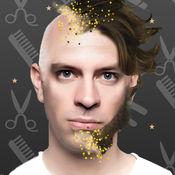 男人发型照片编辑器和胡子沙龙应用程序 - 调整图片以适应理发