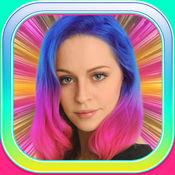 美人鱼发型为女孩 – 改变你的头发颜色同彩虹假发和染料 1