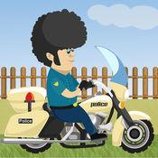 警方自行车速度竞赛亲