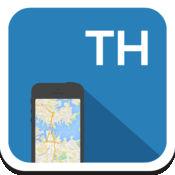 泰国 离线地图,指南,天气,酒店。免费导航。GPS