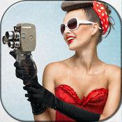 海报女郎的照片蒙太奇 - 改变你的复古女孩的图片编辑器和化妆游戏的样子