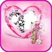 粉红色的心相框 1
