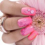 粉色美甲游戏 - 闪烁美甲设计指甲工作室美容化妆
