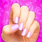 粉红色的指甲 时...