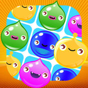 果冻糖果泡泡快乐跑 - 超酷免费的匹配益智儿童游戏