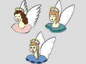 更多天使两个贴纸包