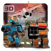 喷气战斗机与机器人 - 空军和真正的机器人的3D战斗模拟游
