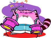 Musician Cat贴纸,设计:Ada