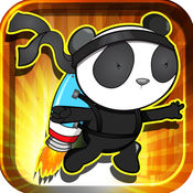 Jetpack宝石bo熊猫忍者 PAID -令人敬畏的收集的战士疯狂疾风