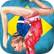 体操女孩跳美国运动员运动训练