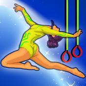 体操  女孩  长  跳  训练  :  所有  星  亲