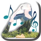 拥抱瑜伽与轻松的音乐 - 冥想舒缓的声音要保持冷静和免费焦虑