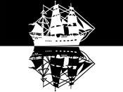 旧木船和海盗船只贴纸 1