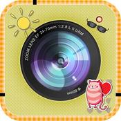 可爱美丽的不干胶标签-照片编辑器,筛选器,效果,相机加帧为