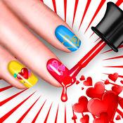 心指甲彩绘 – 漂亮的美甲沙龙同修指甲想法和少女的设计 1
