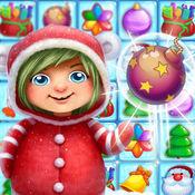 圣诞粉碎 - 孩子益智游戏匹配糖果