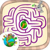 迷宫游戏动物世界 - 宝宝儿童早教育儿趣味益智软件.