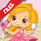 免费儿童拼图教教我系列之女孩和公主的穿着打扮——了解有关裙子、耳环和化妆的内容
