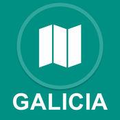 加利西亚,西班牙 : 离线GPS导航
