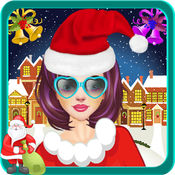 圣诞  水疗中心 沙龙游戏的女孩