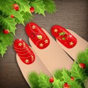圣诞指甲彩绘设计