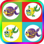 魚配對遊戲為孩子的大腦訓練遊戲