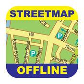 都柏林(英国)离线街道地图