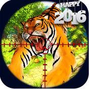 狙击手鹿动物狩猎:拍摄丛林野兽挑战3D