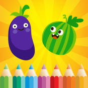 图画书 水果和蔬菜的幼儿和儿童