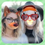 可爱 动物脸 照片编辑器: 有趣的图片效果和照相机贴纸 1
