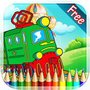 汽车图画书 - 所有的赛车绘画七彩虹为孩子们免费游戏