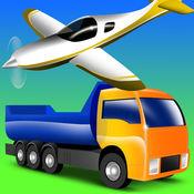 车辆的孩子 - 卡车,拖拉机,汽车的幼儿和儿童 - 游戏 - 着色