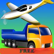 车辆幼儿和孩子们为孩子们 - 卡车,拖拉机,汽车 - 彩页 - 应