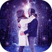 降雪 墙纸 - 浪漫 冬季 背景 1