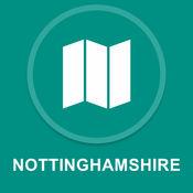 诺丁汉郡,英国 : 离线GPS导航1