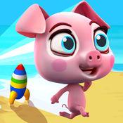 超级赛车猪- 小猪宠物竞速- 迷你赛车游戏的孩子