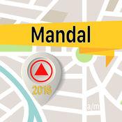 曼达尔 离线地图导航和指南 1
