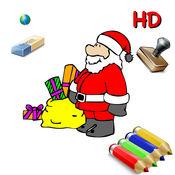 24日圣诞圣诞老人,圣诞树,精灵,和更多的孩子们为iPad图纸颜色 - 免费