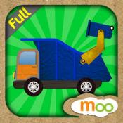 汽车, 卡车, 消防车  - 儿童益智游戏 , 图画, 拼图活动. 完整版 (英语, 国語)