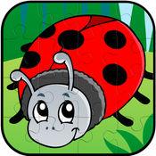 臭虫和鸟动物拼图游戏孩子小孩的乐趣 1